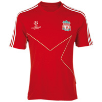 [Order] Liverpool UEFA Champions League T-Shirt - Light Scarlet/White