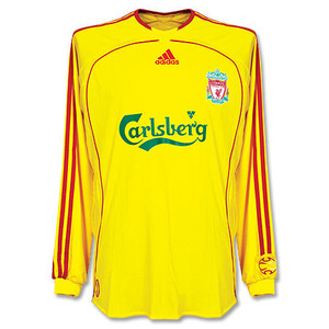 06-07 Liverpool Away L/S Authentic Player Jersey(FORMOTION)