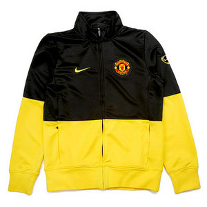 09-10 Manchester United Line-Up Jacket(Yellow/Champions League)