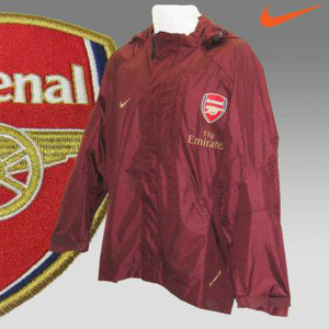 [Order]07-08 Arsenal Player Issue Rain Jacket (Red Wine) - AUTHENTIC