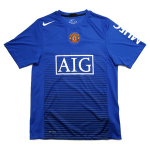 09-10 Manchester United Free Match Top(Blue)
