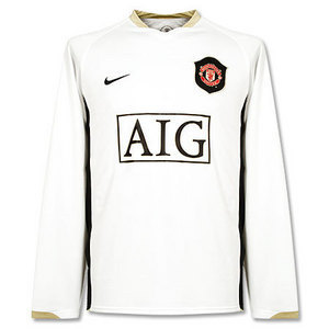 06-07 Manchester United Away L/S + 20.SOLSKJAER + 0407 FAPL Normal Patch (Size:M)