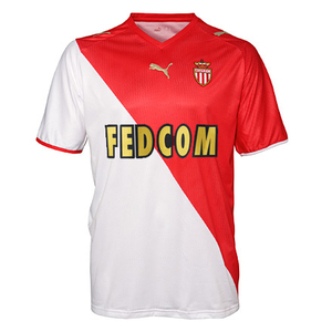 08-09 AS Monaco Home + 10 J. Y. PARK + Ligue 1 Patch + HSBC Sponsor Set (Size:M)