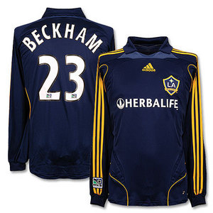 07-08 LA Galaxy Away L/S + 23.BECKHAM (Size:M)