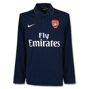 09-10 Arsenal Away Authentic Player Issue L/S (Size:L)