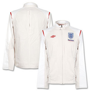 09-11 England After Match Woven Jacket - Swan/White/Vermillion