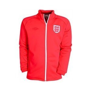 09-11 England Special Edition Track Jacket - Vermillion/Ruby Red/White
