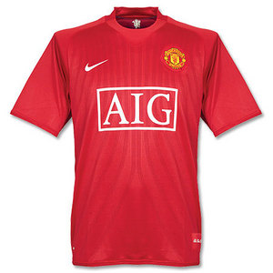 07-08 Manchester United Champions League Final Match Home(With 07/08 C/L Final Match Embroidery) + 18 SCHOLES
