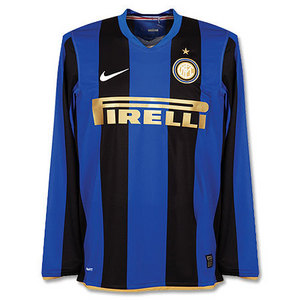 08-09 Inter Milan Home L/S(P2R Player Jersey) + 8.IBRAHIMOVIC (Size:L)