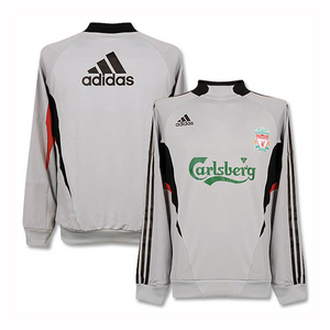 08-09 Liverpool Training Top - Gray/Formotion/Player Issue