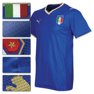 08-09 Italy Home Player Jersey (Authentic) + 7 DEL PIERO + EURO 2008 + RESPECT Patch (Size:M)