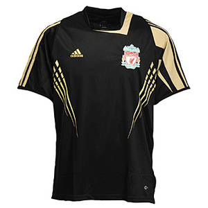 08-09 Liverpool Champions League Training Jersey (Black)