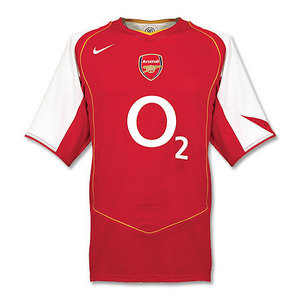 04-05 Arsenal Home + 8 LJUNGBERG + 03/04 P/L Champions Patch(Size:M)