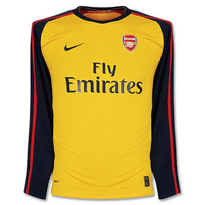 08-09 Arsenal Away L/S + 7 ROSICKY + P/L Patch(Size:M)