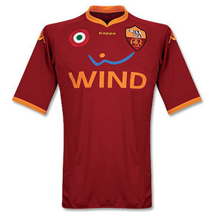 07-08 AS Roma Home (Player Issue Version) + 9 VUCINIC + Serie A patch (Size:XL)