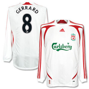 07-08 Liverpool Away L/S + 9 TORRES + FAPL Patch (Size:M)