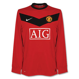 09-10 Manchester United UCL(Champions League) Home L/S (Size;M)
