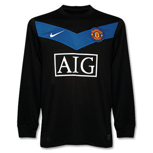 09-10 Manchester United UCL(Champions League) Away L/S (Size;M)