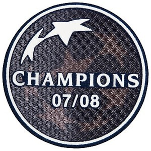 07-08 UCL(Champions League) Champion Patch(For 08/09 ManU),