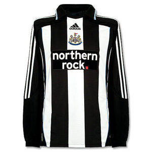 07-09 Newcastle United Home L/S + 17 SMITH + Premier League Patch (Size:M)