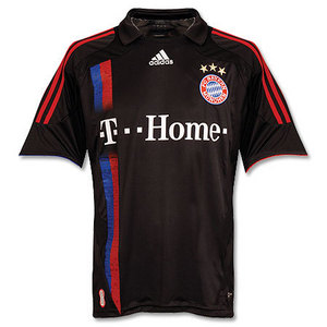07-08 Bayern Munich 3rd + 7 RIBERY + Bundes Liga Patch + T.Home Patch (Size:M)