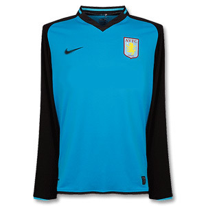 08-09 Aston Villa Away L/S (Authentic /Player Issue) (Size:L)
