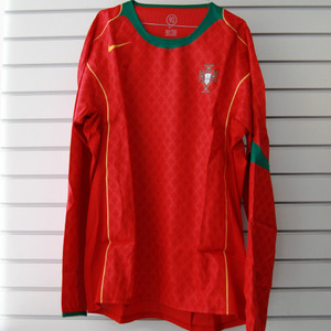 04-06 Portugal Home L/S CODE-7 PLAYER ISSUE + 10 RUI COSTA + EURO 2004 Patch Set (Size: L)