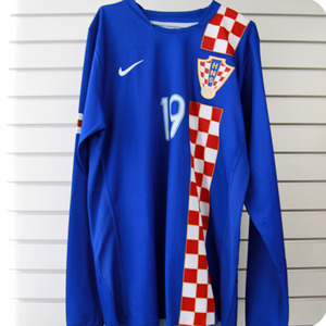 06-08 Croatia Away L/S + 19.KLANJCAR (Size:L) - Authetic / Player Issue