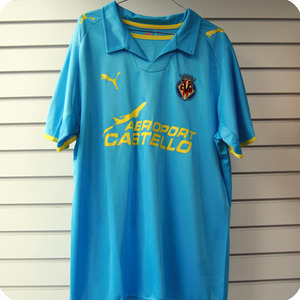 08-09 Villareal Away + 4 Capdevila+ LFP + CANAL (Size:L)