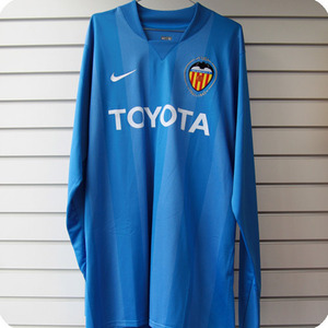 07-08 Valencia GK L/S (Authentic Player Jersey) - Blue