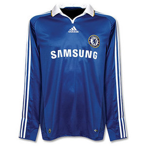 08-09 Chelsea Home L/S + 13 BALLACK + Premier League Patch (Size:M)