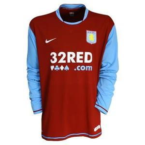 07-08 Aston Villa Home  L/S (Authentic /Player Issue)