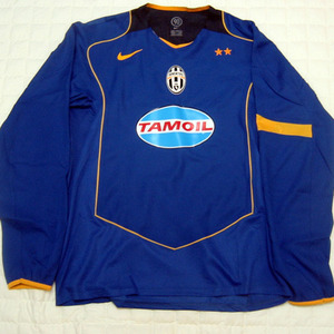 04-05 Juventus UCL(Champuons League) Away L/S (Code-7 Player Issue) + 10 DEL PIERO + C/L Patch (Size:L)