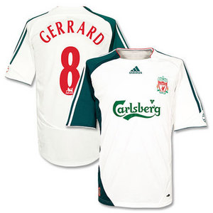 06-07 Liverpool 3rd(EURO) + 8 GERRARD + Premier League Patch(Size:M)