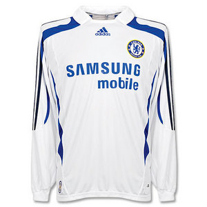 07-08 Chelsea 3rd L/S + 11 DROGBA + Premier League Patch (Size:M)