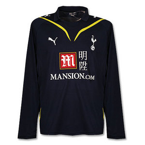 09-10 Tottenham Away L/S + 21 KRANJCAR + Premier League Patch (Size:M)