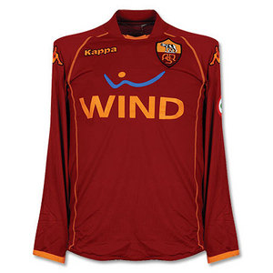 08-09 AS Roma Home L/S(Player Issue Version) + 10 TOTTI