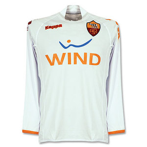 08-09 AS Roma Away L/S(Player Issue Version) + 16 DE ROSSI