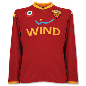 07-08 AS Roma Home L/S(Player Issue Version) + 8 AQUILANI