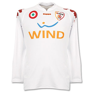 07-08 AS Roma Away L/S(Player Issue Version) + 16 DE ROSSI