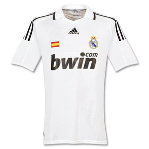 08-09 Real Madrid UCL(Champions League) Home + 23. VAN DER VARRT (Size:M)