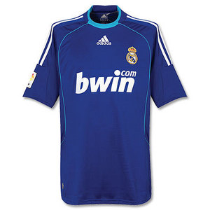 08-09 Real Madrid Away + 23 VAN DER VAART + LFP (Size:M)