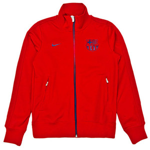 12-13 Barcelona(FCB) Authentic N98 Jacket (Storm Red/Midnight Navy/Midnight Navy)