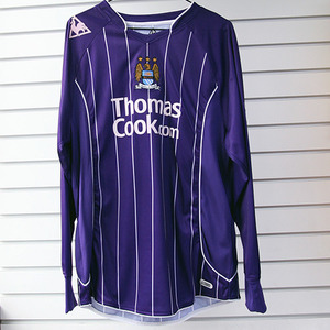 07-08 Manchester City Away L/S + 15 PETROV + P/L Patch