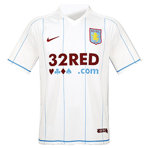 07-08 Aston Villa Away + 17 PETROV + P/L Patch