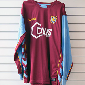 05-06 Aston Villa Home L/S + 9 ANGEL + P/L Patch
