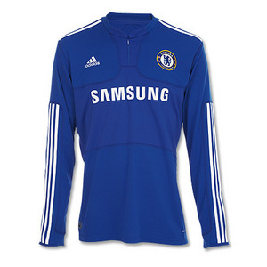 09-10 Chelsea Home L/S + 13 BALLACK + Premier League Patch (Size:M)