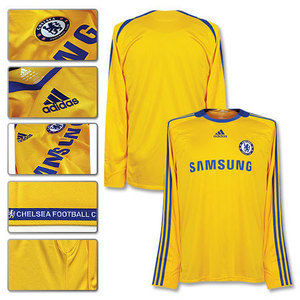 08-09 Chelsea 3rd L/S + 13 Ballack + Premier League Patch (Size:M)
