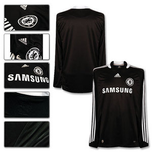 08-09 Chelsea Away L/S + 13 Ballack + Premier League Patch (Size:M)