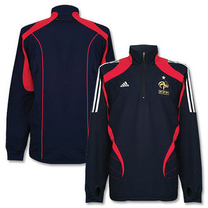 07-08 France Windbreak top - Navy/Red